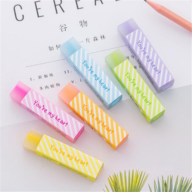 1Pc/Sell Eraser New Pencil Drawing Quality Tools School Supplies Kids School Items Erasers For Kids Rubber Cute Eraser Pencil