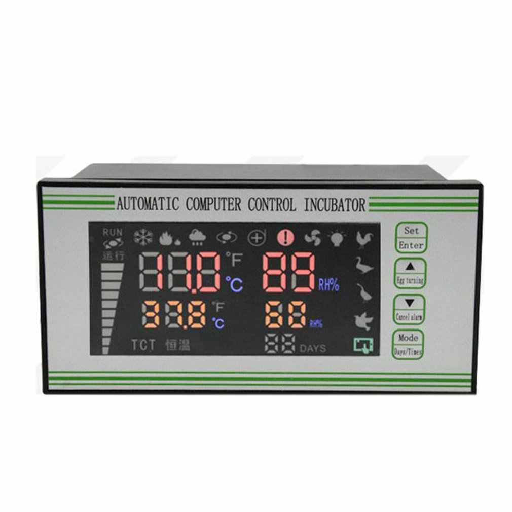 Sorand Incubator Temperature Controller High Accuracy Incubator Temperature Humidity Controller Hatching Thermostat Instrument with LCD Display Automatic Egg Turning Microcomputer Control