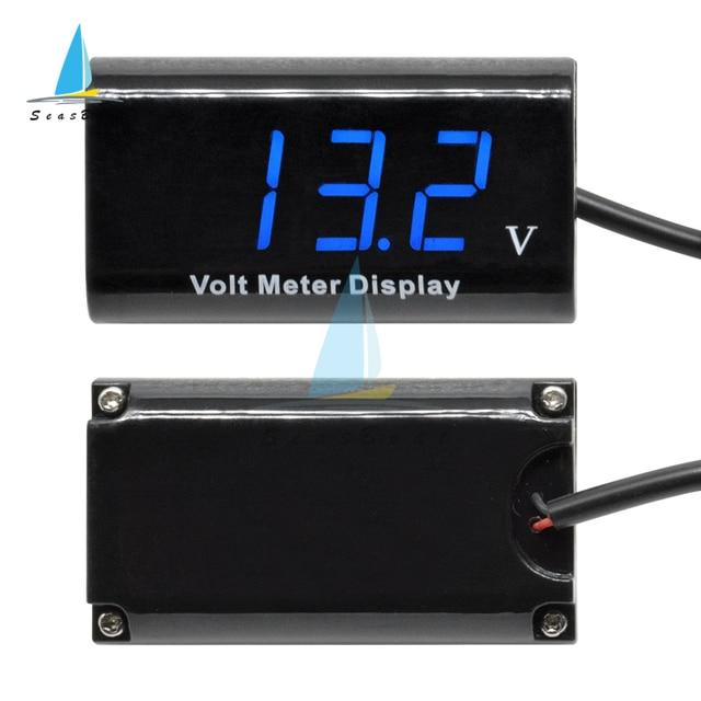 IPX6 Waterproof DC 3-18V Digital Voltmeter for Car Motorcycle 12V 0.56Inch 3 Digit LED Display Volt Monitor Voltage Meter Tester