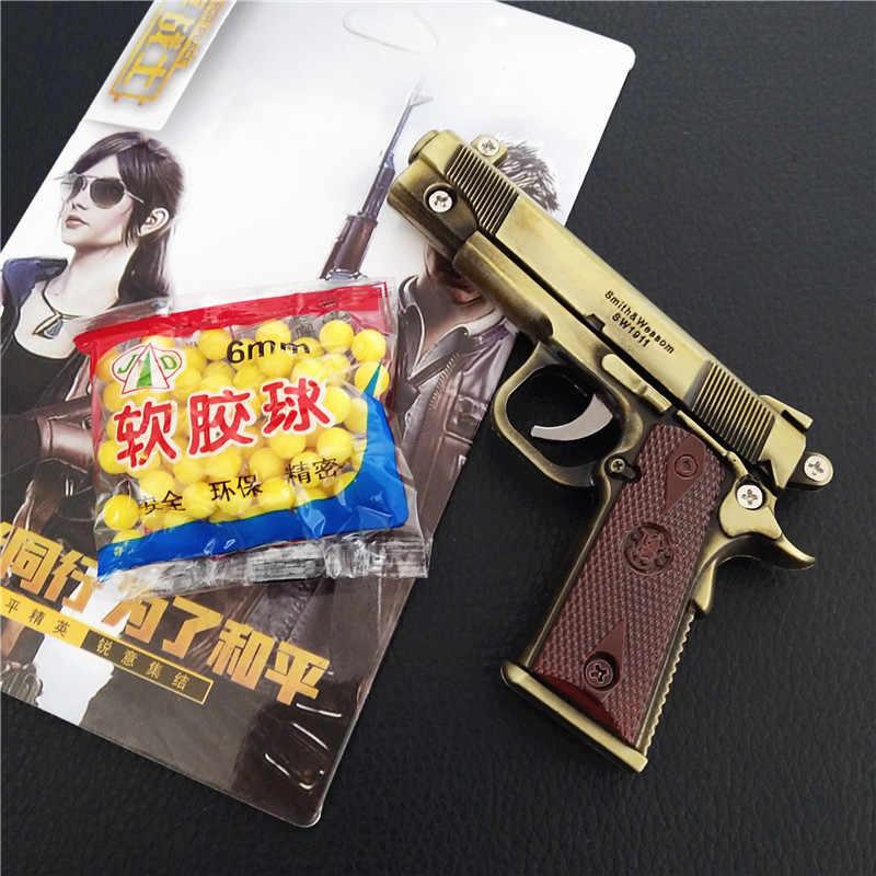 Oyun PUBG silah silah modeli anahtarlık 98K VSS anahtarlık alaşım anahtar zincirleri Cosplay takı boyutu jedi yemek tavuk 2020 anahtarlık 11cm