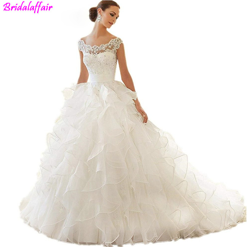 Newest-Design-Organza-Beaded-Tiered-Cape-Scalloped