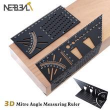 Wood Working Ruler 3D Mitre Angle Measuring Gauge Square Measure Tool Scriber Dovetail Marking Template Vertical Calibration