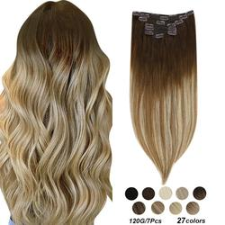 [23 Colors] Ugeat Clip in Hair Extensions 14-22
