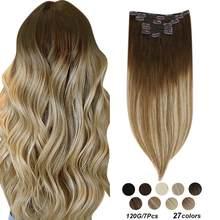 [23 cores] ugeat grampo em extensões de cabelo 14-22