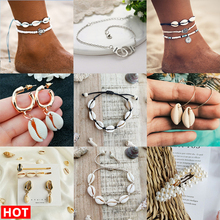 Boho Fashion Natural Shell Anklet For Women Trendy Metal Sliver Alloy Adjustable Anklets On Leg Foot 2019 Summer Beach Jewelry