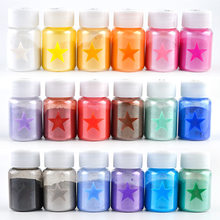18色雲母粉エポキシ樹脂染料diyアクセサリーパール顔料シリコーン型ペンダントネックレスジュエリー手ジュエリーメイキングクラフト