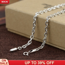 S925 silver necklace 2019 men's fashion silver necklace Thai silver antique simple fashion sweater chain цена