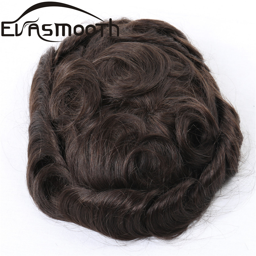Raw Indian Hair Wig Human Hair Topper Prosthesis Men Toupee Durable Men Pu Lace Front Wig Natural Hairline Hair System For Men
