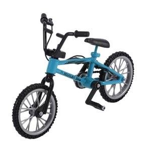 Пальчиковая доска, велосипедные игрушки с тормозным тросом, синий сплав, имитация, bmx велосипед, детский подарок, мини размер, Прямая доставка