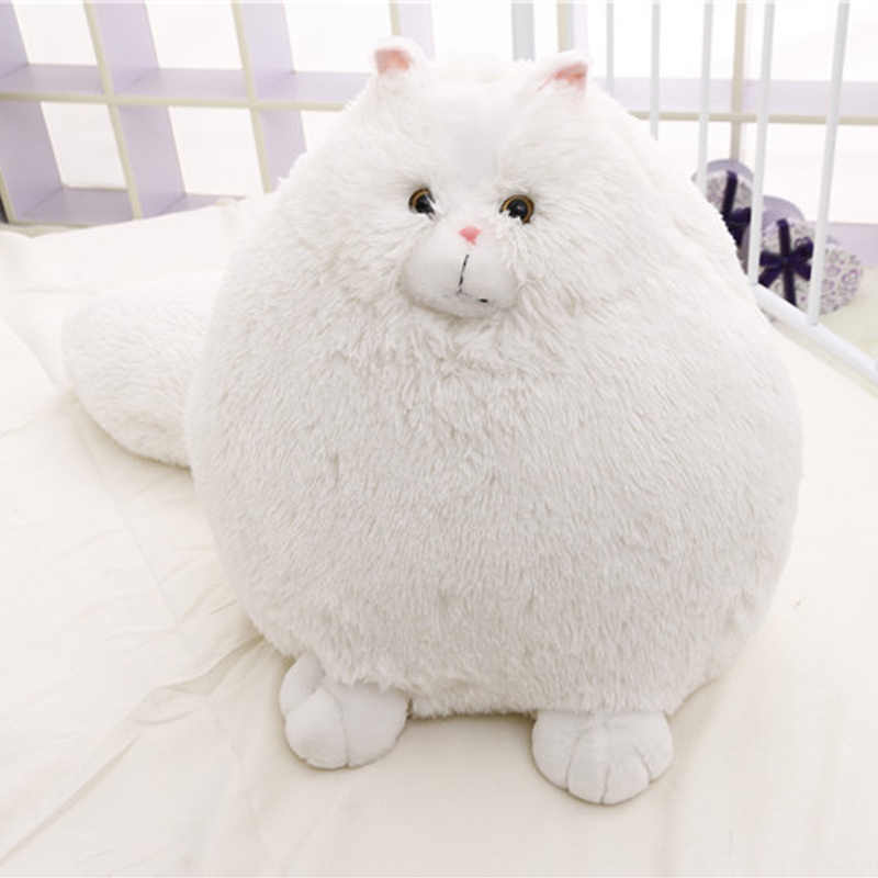30/50cm Plush Fluffy Cats Toys Pillow Soft Stuffed Animal Dolls Baby Kids Toys Gifts Persian Pembroke Pillow