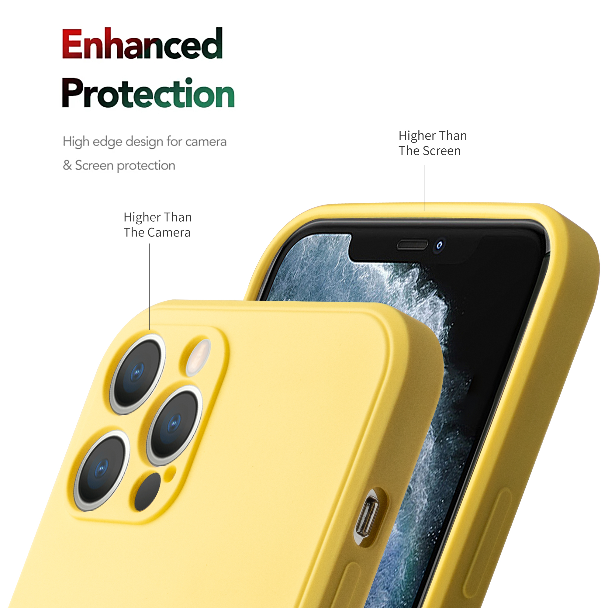 Luxury liquid silicone protective case for iphone 11 12 12pro x xr xs max strong Anti-fingerprint for iPhone 6 7 8p plus se case