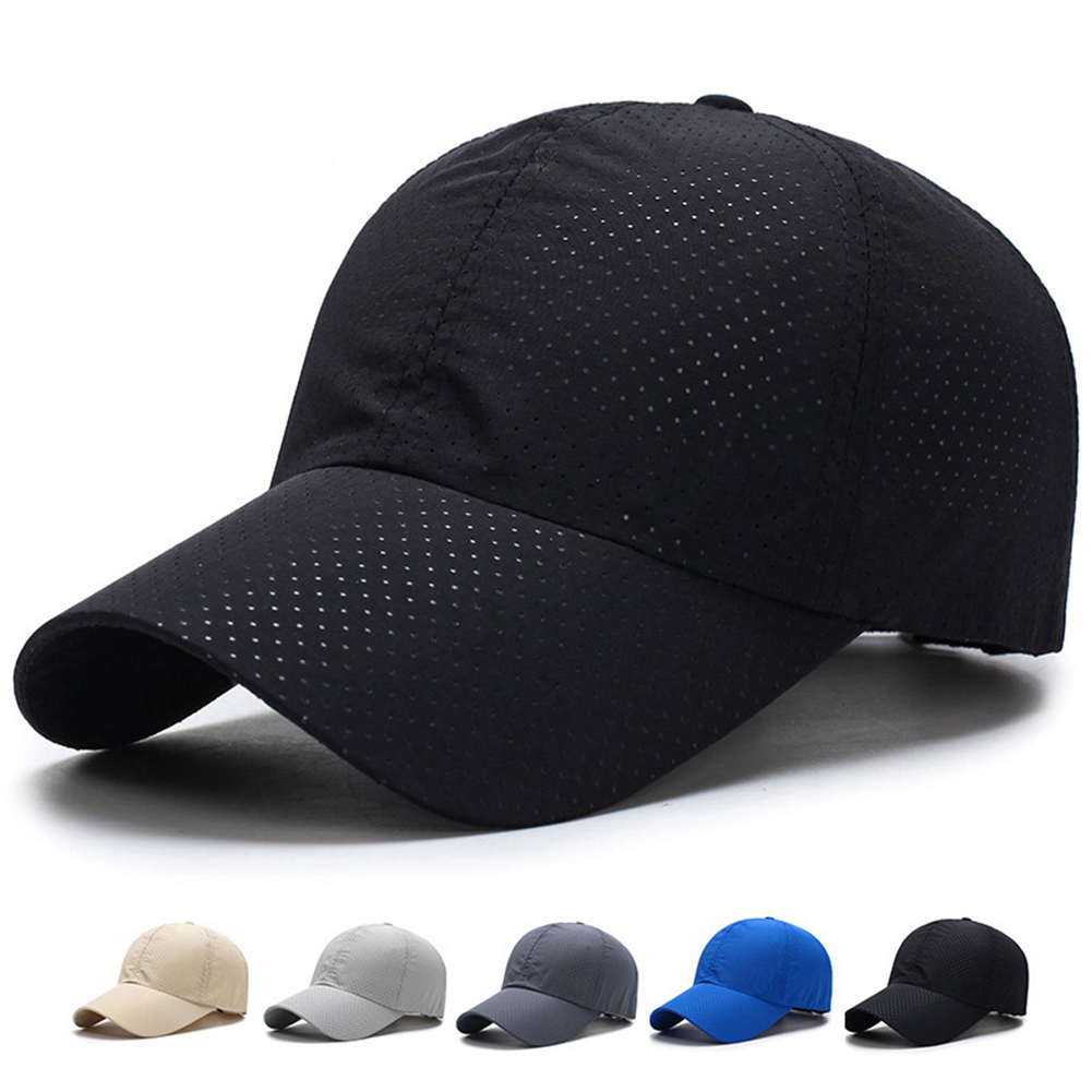 Women Solid Summer Baseball Cap Snapback Quick Dry Adjustable Mesh Breathable Sun Fashion Streetwear Hat Hip Hop Fitted Cap