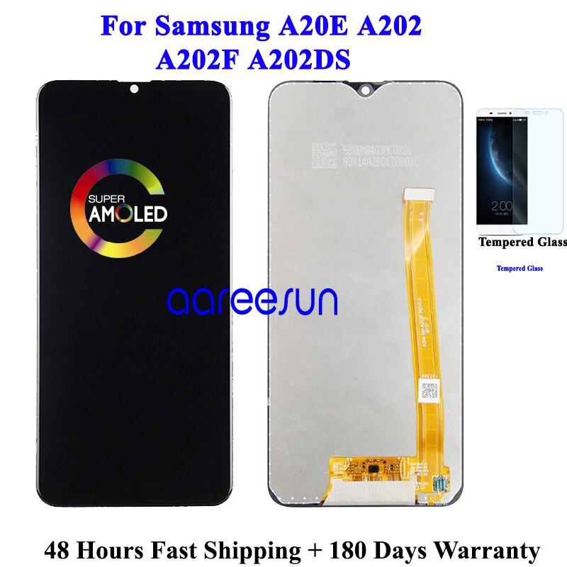 Оригинальный ЖК-экран для Samsung A20E LCD A202 LCD для Samsung A202 A202F A202DS дисплей ЖК-экран сенсорный дигитайзер сборка