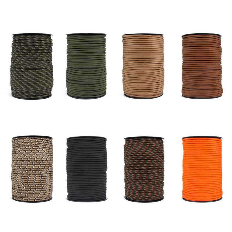 100M 4Mm 9 Stand Cores For Survival Parachute Cord Lanyard Camping Climbing Camping Rope Hiking in Climbing Accessories from Sports Entertainment