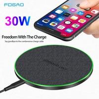 FDGAO 30W Qi Drahtlose Ladegerät Für iPhone 11 Pro XS X XR 8 Induktion Typ C Schnelle Lade Pad für Samsung S20 S10 Xiaomi Mi 10 9