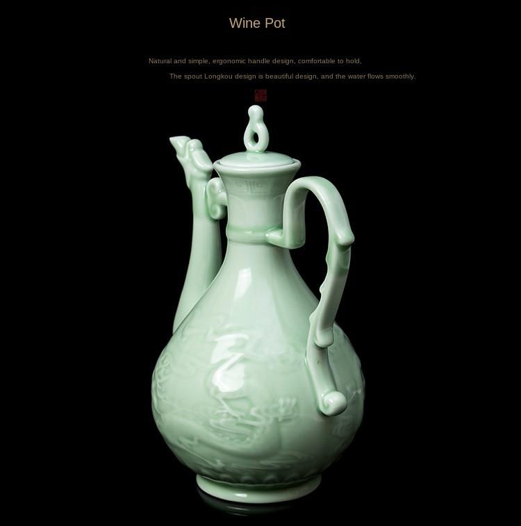 Conjunto de vinho de porcelana conjunto de