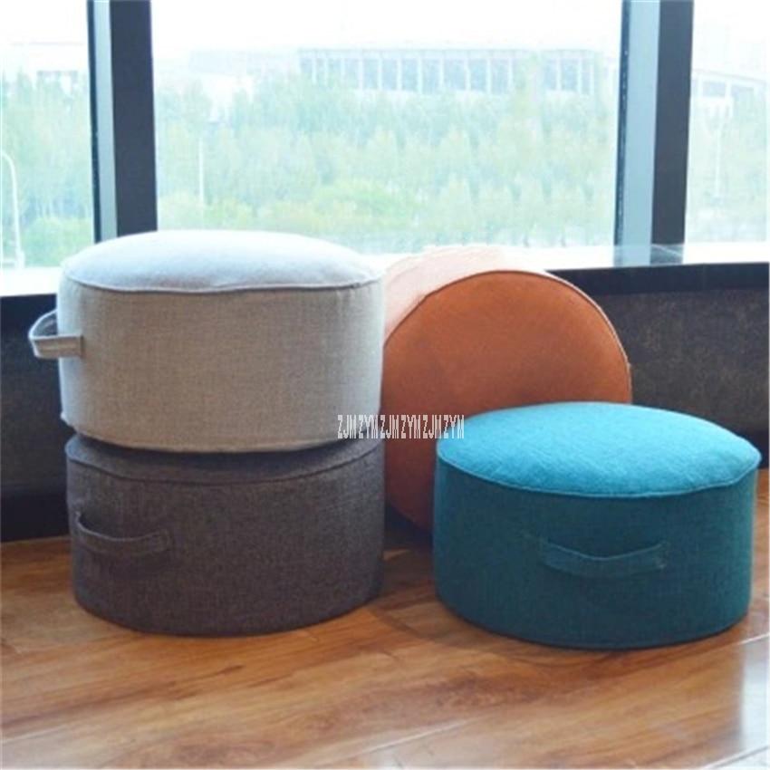 66 Cotton-Flax Tatami Cushion Round Chair Circular Cushion Floor Mat Removable Washable High Strength Sponge Seat Cushion