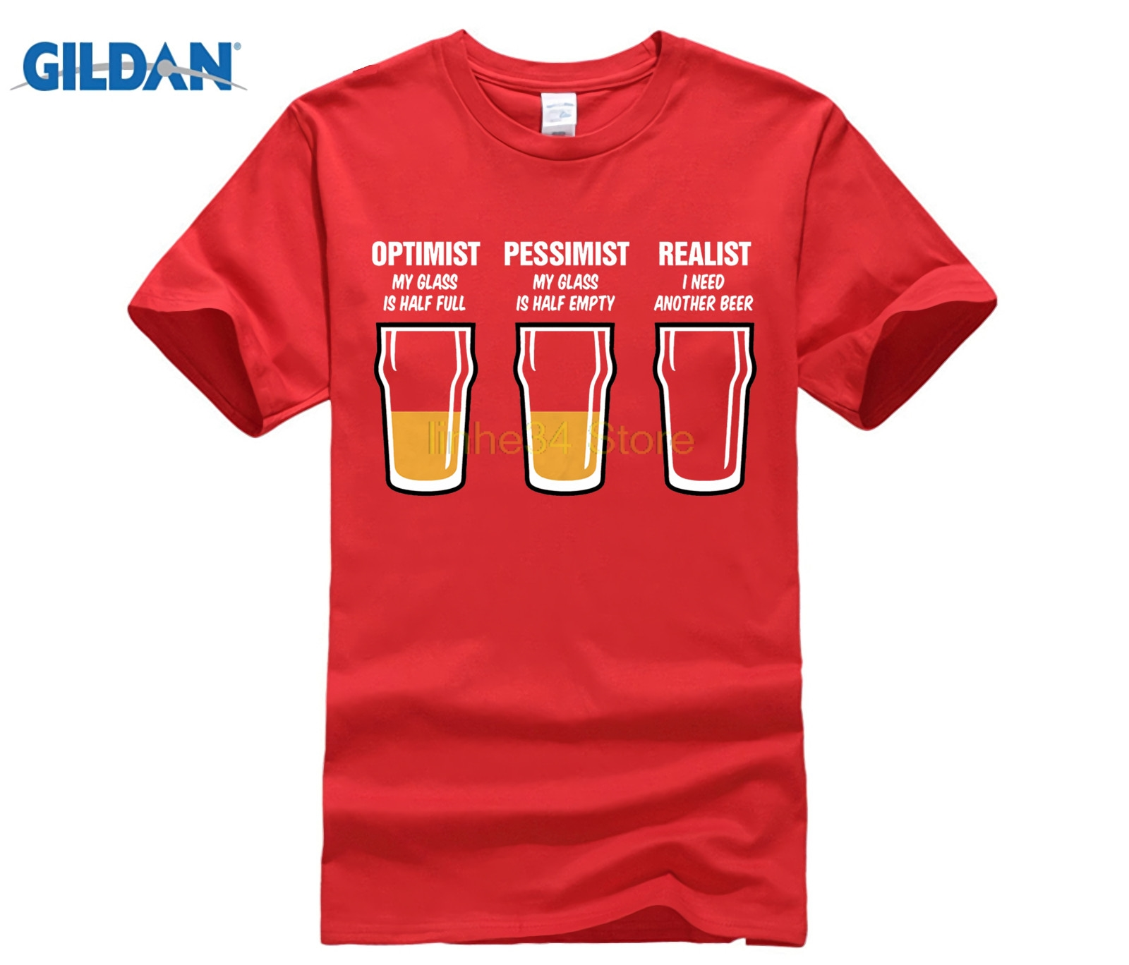 Realist Beer Glass Mens Funny T Shirt - Gift for Dad Fathers Day Real Ale CAMRA Fashion Men and Woman T-Shirt