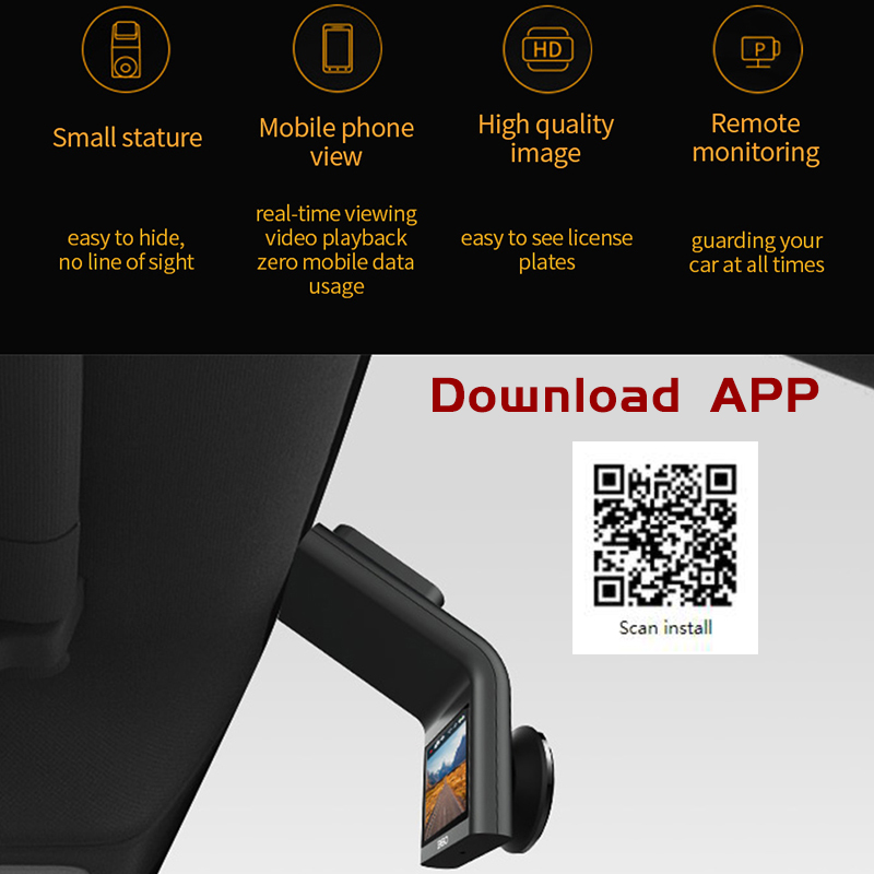 Image 5 - Xiaomi Mijia Dash Camera 360 Dash Cam G300 1080P Small Stature High Quality Image Remote Monitoring 4 Full F2.2 Chinese Version-in DVR/Dash Camera from Automobiles & Motorcycles