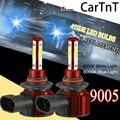 CarTnT 2 шт. 20000LM Автомобильные фары светодиодный H7 H8 H9 H11 HB3 9005 HB4 9006 12V светодиодный Лампа 6000K 8000K Светодиодный лампочки Автомобильные противотум...