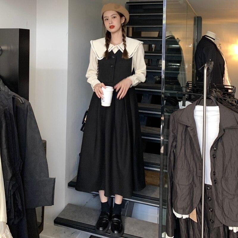 ТРАПЕЦИЕВИДНОЕ французское платье в стиле ретро, весенний женский дизайн, нишевая юбка на бретелях, милый соленый комплект из двух предмето...