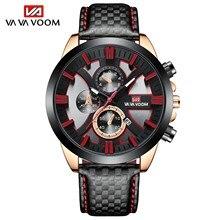 2021 novo 45mm dial moda relógios marca superior de luxo esportes cronógrafo à prova dmilitary água militar couro genuíno relógios de pulso para homem