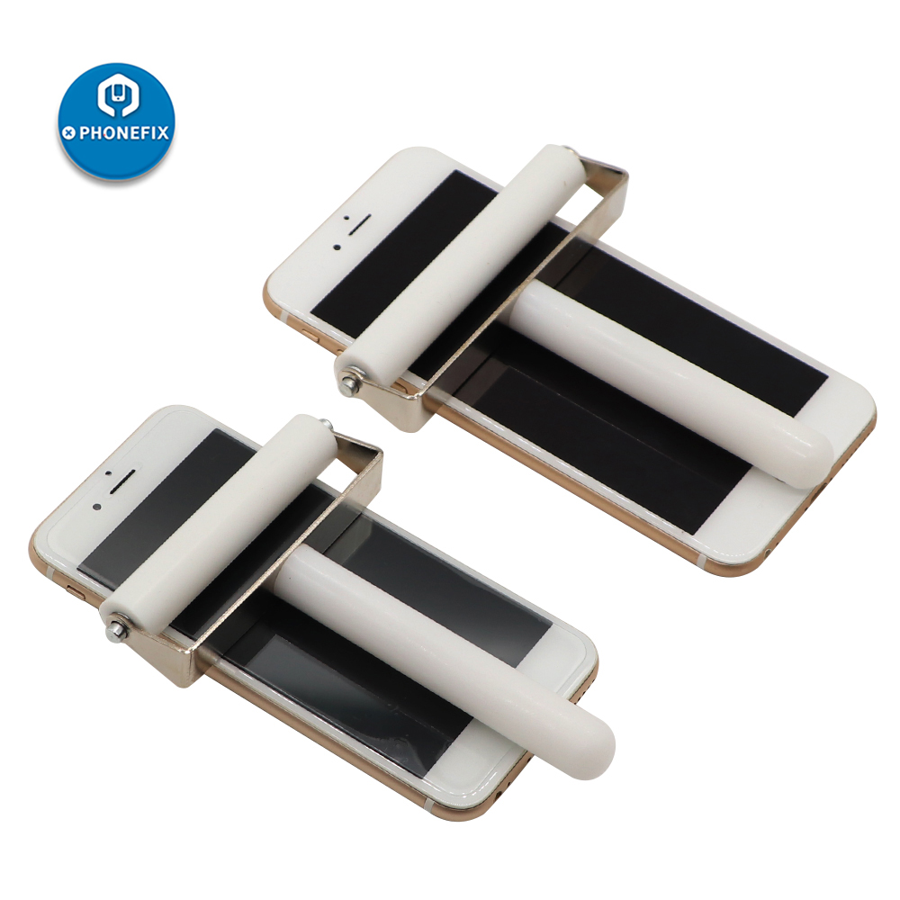 8/10CM Metal Handle Silicone Roller Mobile Phone Screen Protector Film Pasting LCD OCA Pasting Tools