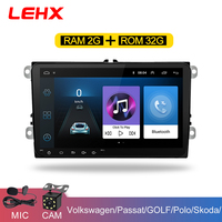 LEHX 9 inch Car Android 8.1 Car radio GPS Auto radio 2 Din USB for VW Skoda Octavia golf 5 6 touran passat B6 jetta polo tiguan