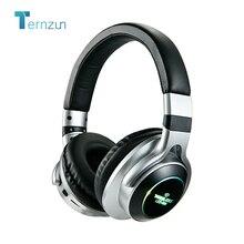 LED 빛 무선 헤드폰 블루투스 V5.0 소프트 큰 귀고리 이어폰 3D 스테레오 헤드셋 4 색 지원 TF 카드 FM 3.5mm AUX