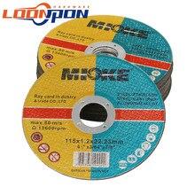 25 шт./лот 115mm режущий диск для металла Плоский Режущий диск для резки круга шлифовальный станок отрезать колес для железная стальная труба а...
