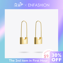 ENFASHION Wholesale Lock Drop Earrings For Women Gold Color Stainless Steel Dangle Earings Fashion Jewelry Gifts Brinco E5282