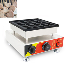 Commercial Electric  25 Holes Heart Shape Poffertjes Grill Dutch Waffle Maker Mini Pancake Waffle Iron Machine 110v 220v CE цена и фото