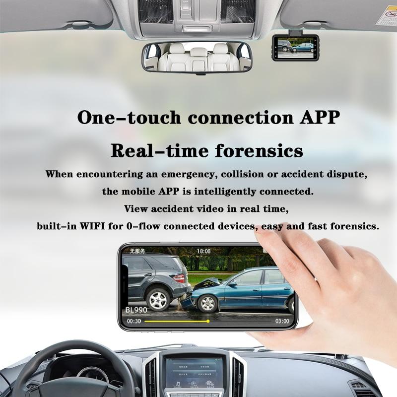 Original AZDOME M17 Dash Cam 1080P HD Night 24H Parking Monitor Video Recorder Night Vision WiFi Car DVR Dual Lens Car Camera 3
