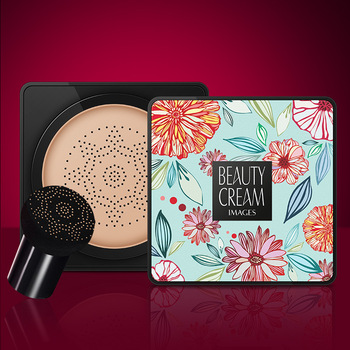 BB Air Cushion Foundation Mushroom Head CC Cream Concealer Whitening Makeup Cosmetic Waterproof Brighten Face Base Tone 6