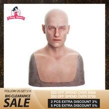 Силиконовая маска для мужчин, Реалистичная маска для взрослых, силиконовая маска для мужчин, косплей, вечерние Фетиш маска, настоящая кожа