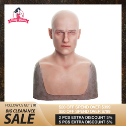 Drag Queen Silikon Maske Realistische Männliche Gesicht Erwachsene Silikon Volle Gesicht Maske für Mann Cosplay Partei Maske Fetisch Echt Haut