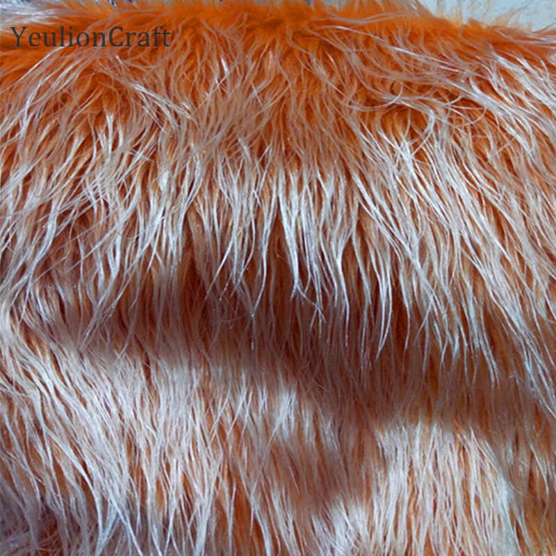 YeulionCraft 20x30/50x80cm yapay yumuşak peluş uzun suni kürk kumaş için kadın ceket giyim Diy dikiş el sanatları
