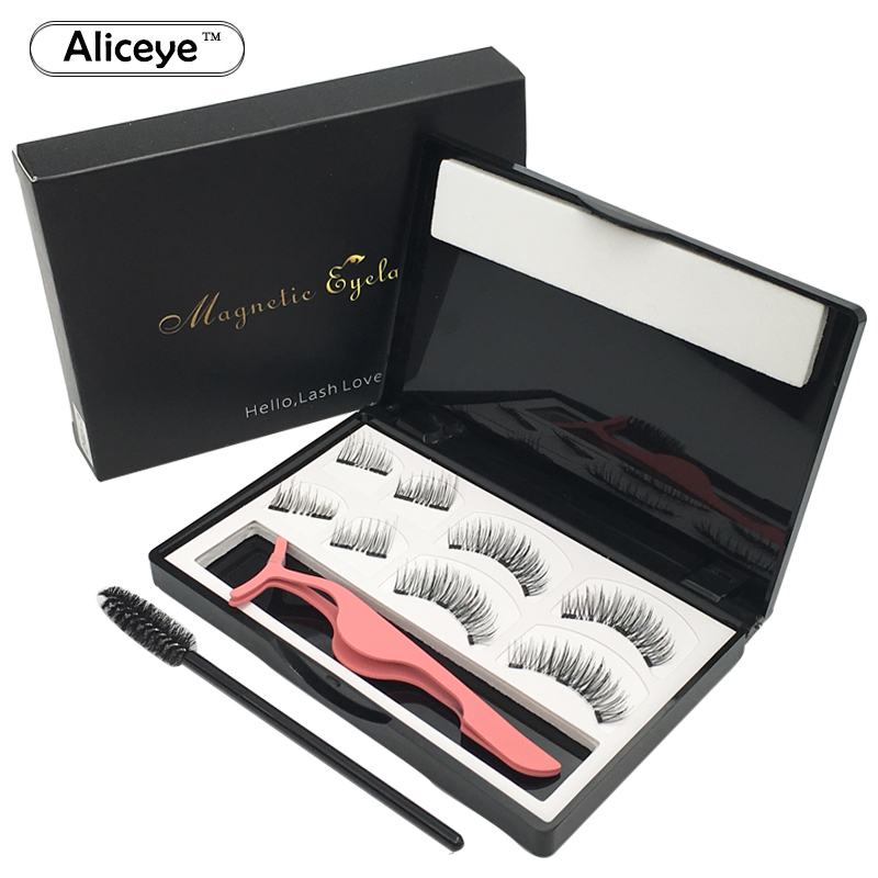 3D Magnetic Eyelashes Natural False Eyelashes Faux Mink Wispy Magnetic Eye Lashes Magnet Eyelash Extension Makeup Fake Lashes