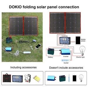 Image 3 - Dokio 18V 100w פנל סולארי 12V גמיש Foldble שמש מטען טלפון נייד usb חיצוני פנלים סולאריים עבור קמפינג/סירות/בית