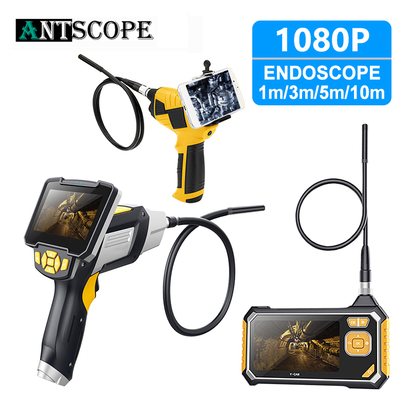 Antscope 4.3 Inch Industrial Endoscope 1080P HD 8MM Inspection Camera For Auto Repair Tool Snake Hard Handheld Wifi Endoscope 35