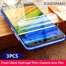 XINDIMAN 3pcs soft hydrogel film for xiaomi redmi note7 front+back+camera lens note7pro screen Protector