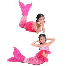 New Girls Mermaid Tail Princess Dress with Kids Holiday Mermaid Costume Cosplay Swimsuit Birthday Costume