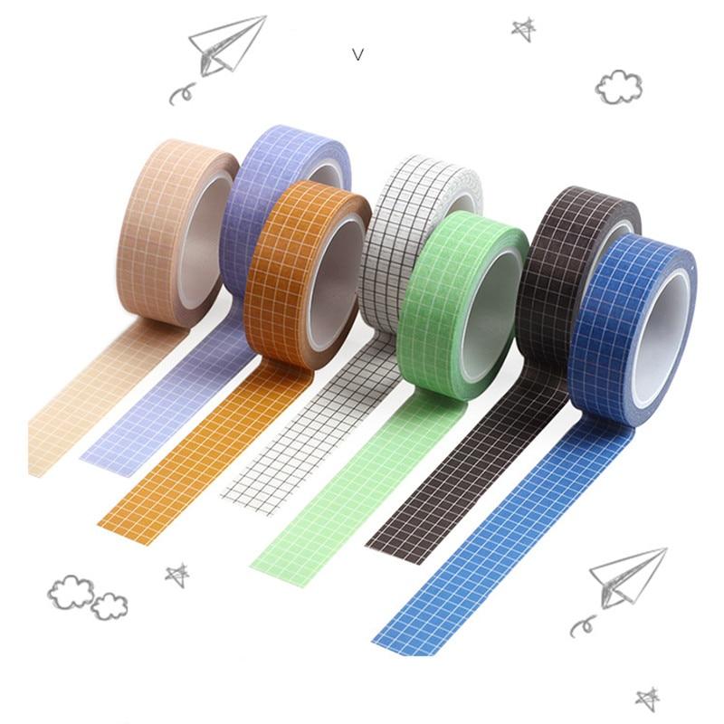 1PC 10M Black White Grid Bullet Journal Washi Tape Planner Adhesive Tape DIY Scrapbooking Sticker Label Japanese Masking Tape