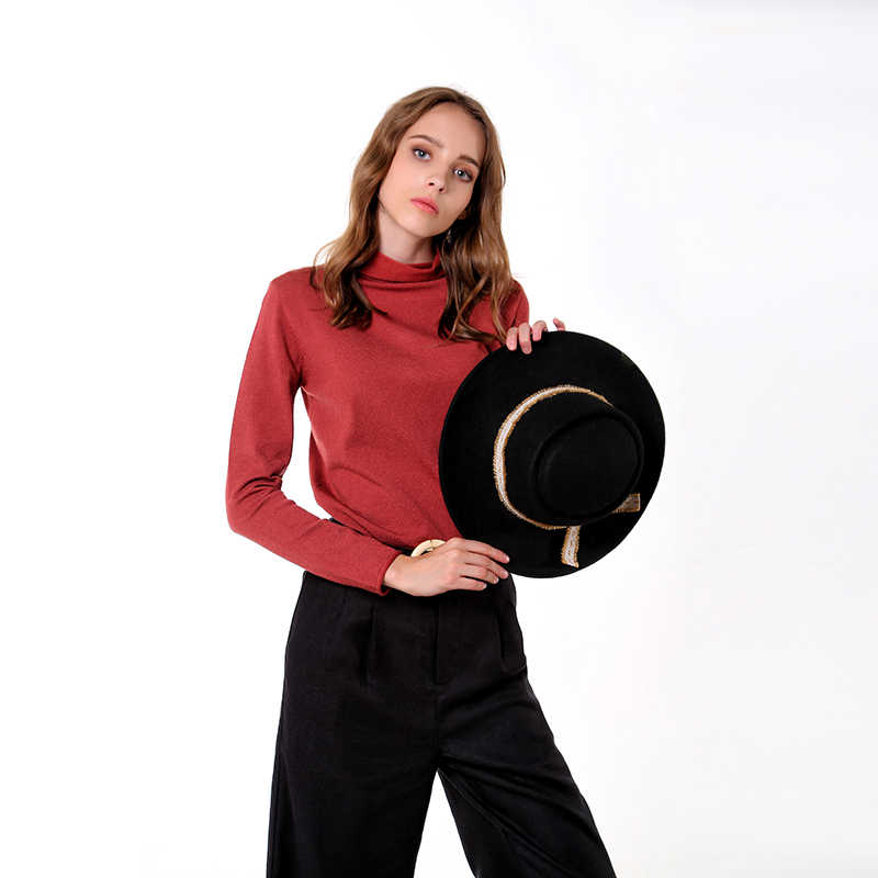 CMAZ 2019 Fashion warm jumper women knitted Sweaters female casual long Sleeve tops Solid Autumn Winter MX18D5534