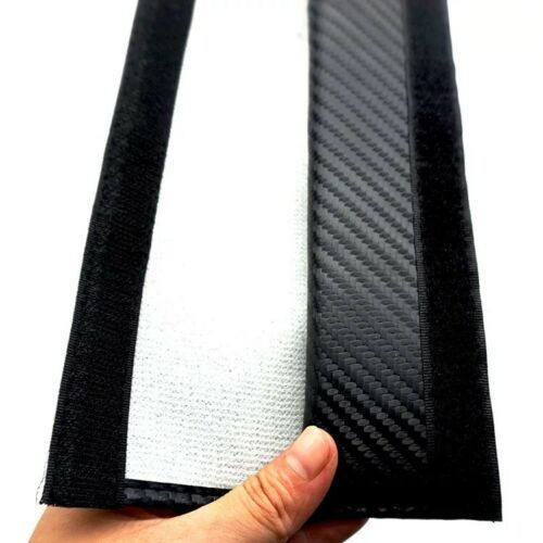 2 x Carbon Fibre Looking for AMG Logo Seatbelt Cover Pads for Benz A45 CLA45 C63s