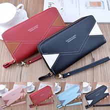 Puimentiua PU Leather Long Wallets Women Long Zipper Coin Purses Tassel Design Clutch Wallet Female Money Bag Credit Card Holder