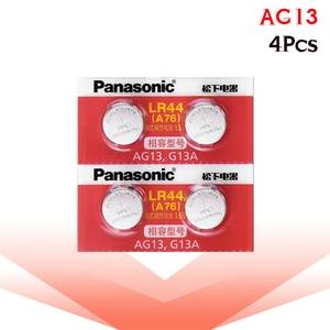Image 5 - Panasonic 4pcs 1.5V אבץ AG13 LR 44 LR44 כפתור לחצן שעון שעון לייזר מצביע בקנה מידה סוללות GP76 GPA76 L1154 SR44 SR44W