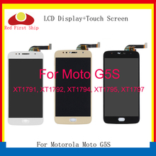 10Pcs/lot LCD Display For Motorola Moto G5S LCD For Moto G5S XT1793 XT1794 XT1792 Disaplay Screen Touch Digitizer Assembly 5pcs lot for motorola moto x3 play xt1562 lcd display touch screen digitizer assembly black white free dhl