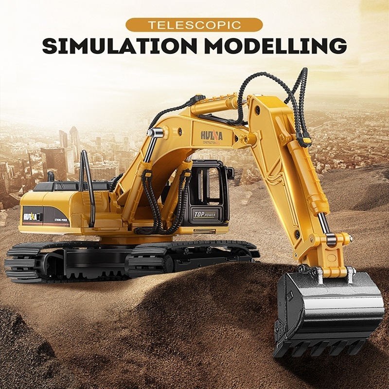 High Simulation Alloy Engineering Vehicle Model 1: 50 Alloy Excavator Toys Metal Castings Toy Vehicles