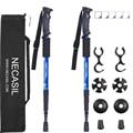 2 шт./лот, телескопические трости для треккинга, скандинавские алюминиевые трости для лыжного лагеря, трости для ходьбы